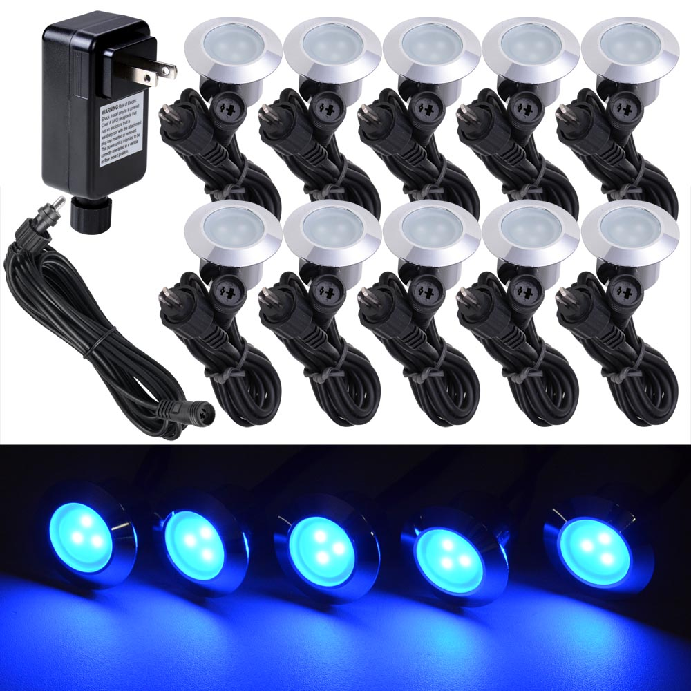 10pc blue led deck lights kit garden patio stair landscape outdoor 10pc blue led deck lights kit garden patio stair landscape outdoor pathway decor mozeypictures Gallery