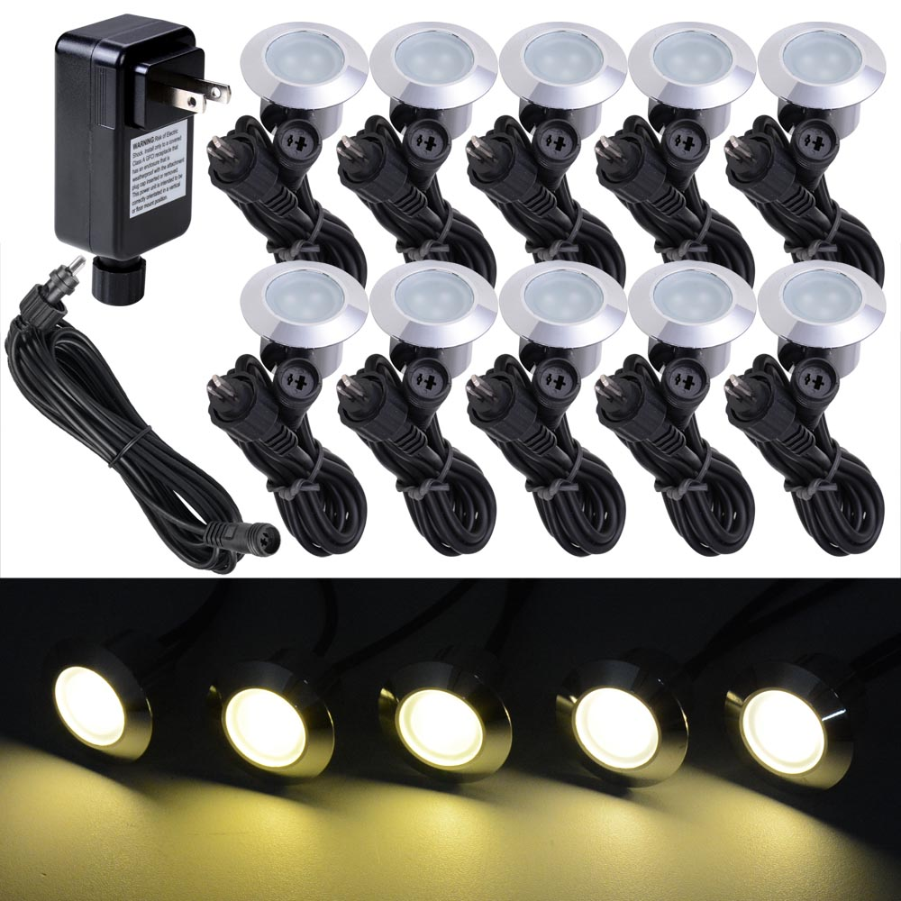 Outdoor Lamp Wiring Kit: LED Stairs Deck Light Garden Landscape Pathway Lamp