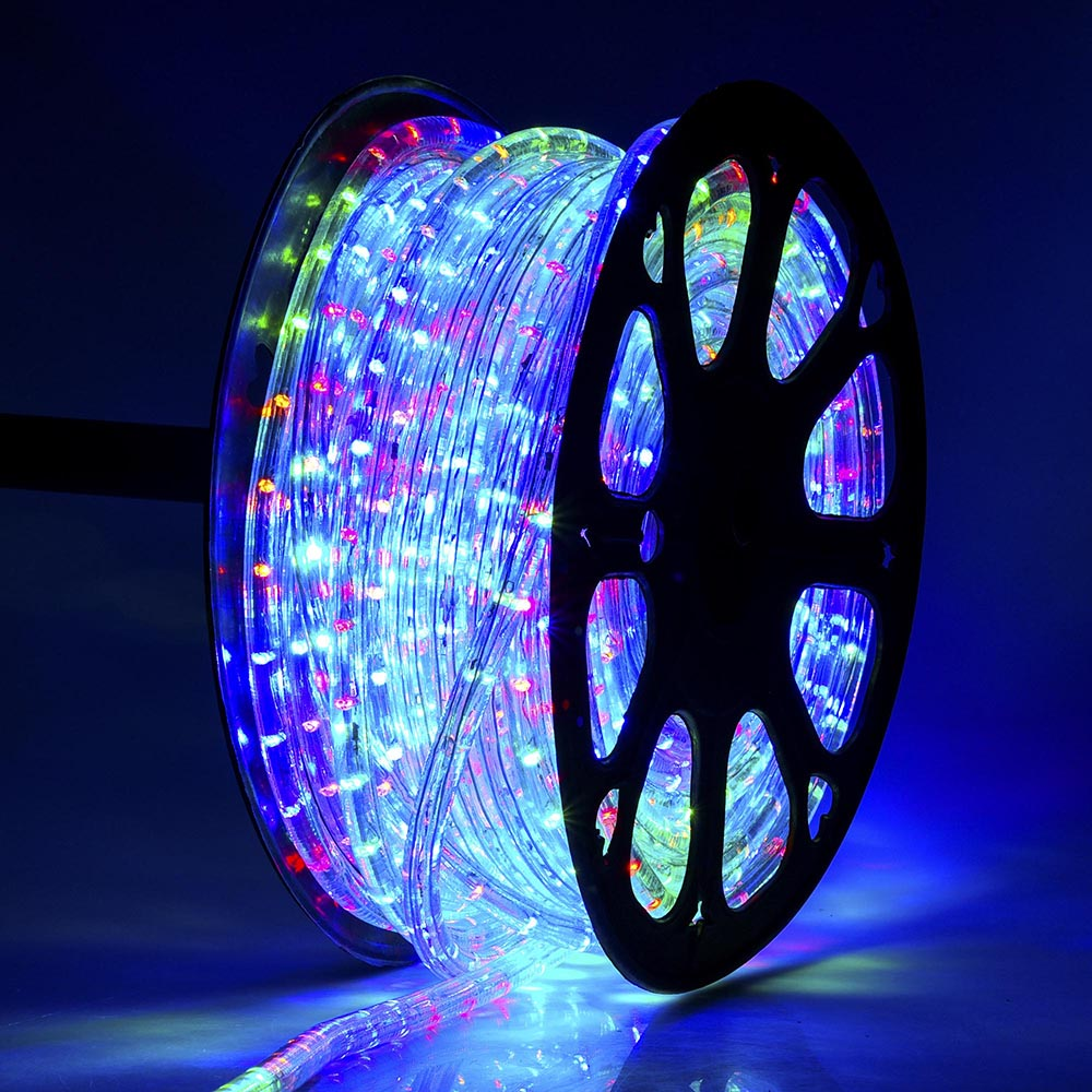 Delight 150 rgb 2 wire led rope light home party xmas inoutdoor delight 150 rgb 2 wire led rope light home party xmas inoutdoor decoration aloadofball Images
