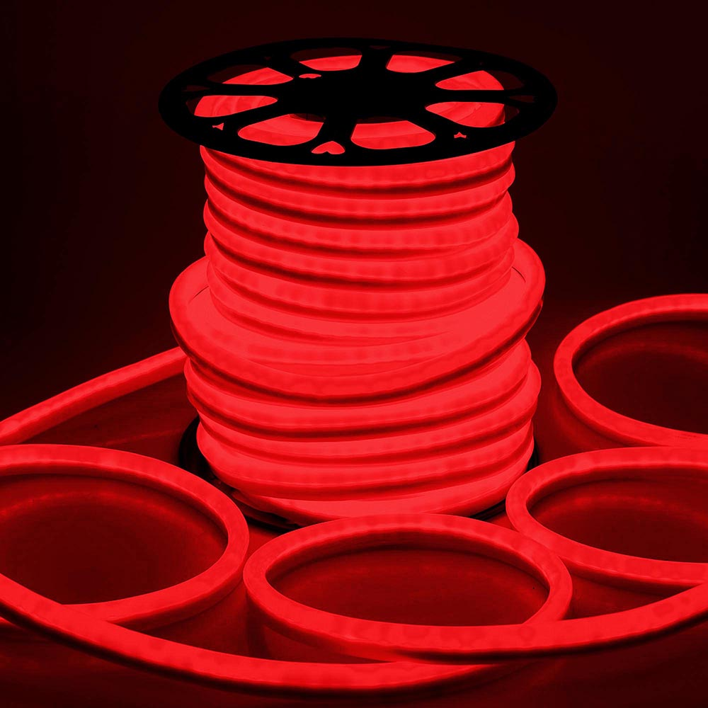 Delight 150 ft red led neon rope light flex tube sign holiday delight 150 ft red led neon rope light flex tube sign holiday decor lighting mozeypictures Images