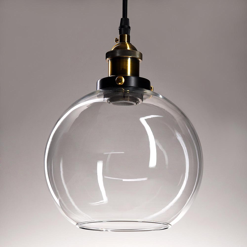 Vintage Glass Ceiling Pendant Chandelier Industrial Light