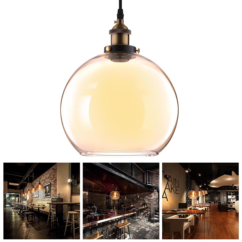 Vintage Industrial Glass Pendant Light: Vintage Glass Ceiling Pendant Chandelier Industrial Light