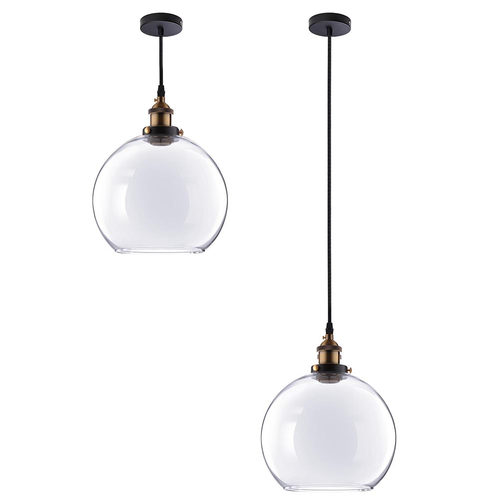 Chandelier Lighting Glass: Vintage Glass Ceiling Pendant Chandelier Industrial Light