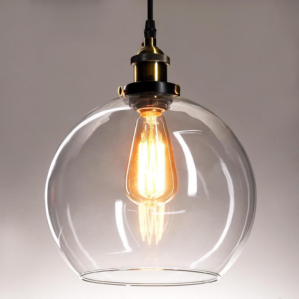 Vintage Glass Ceiling Pendant Chandelier Industrial Light