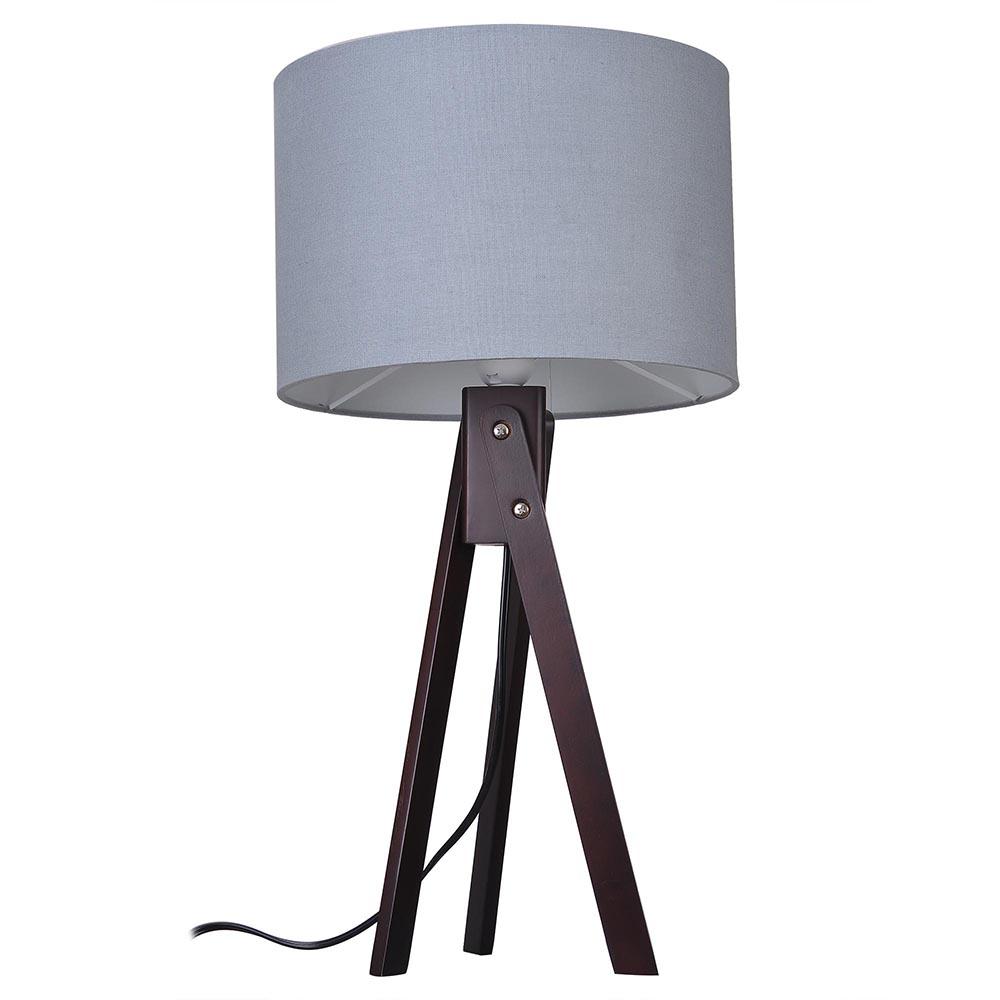 Modern Tripod Table Desk Floor Lamp Wood Wooden Stand Home Office Bedroom Light Ebay