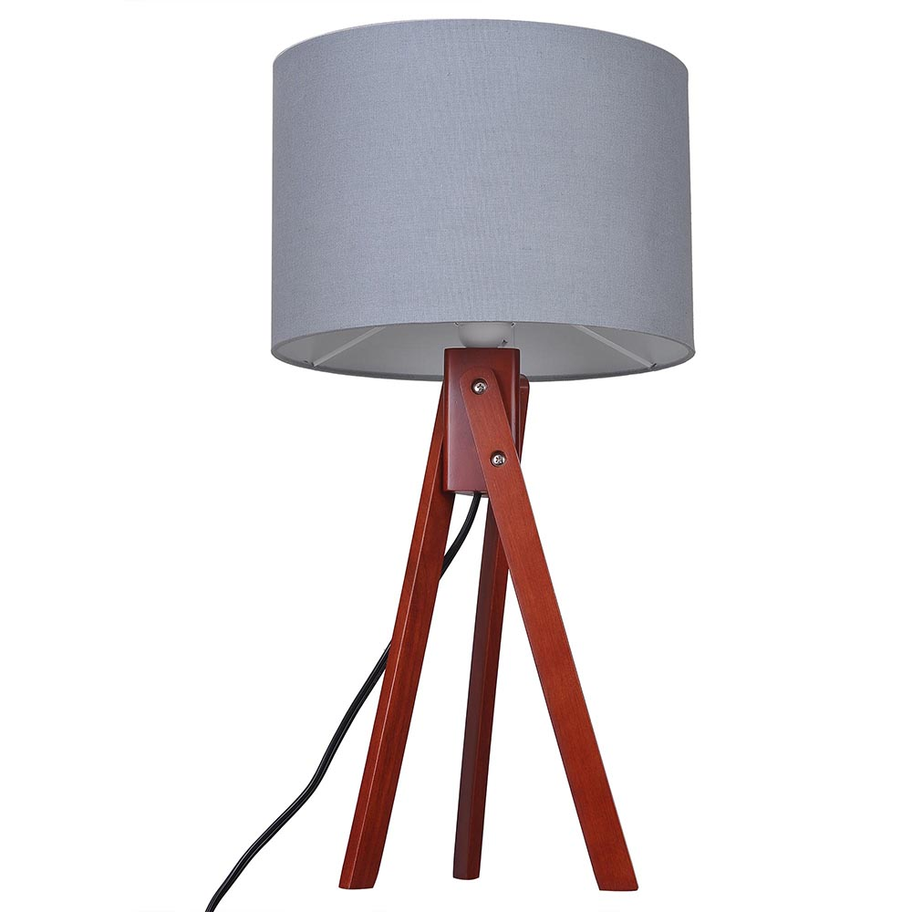 Modern Tripod Table Desk Floor Lamp Wood Wooden