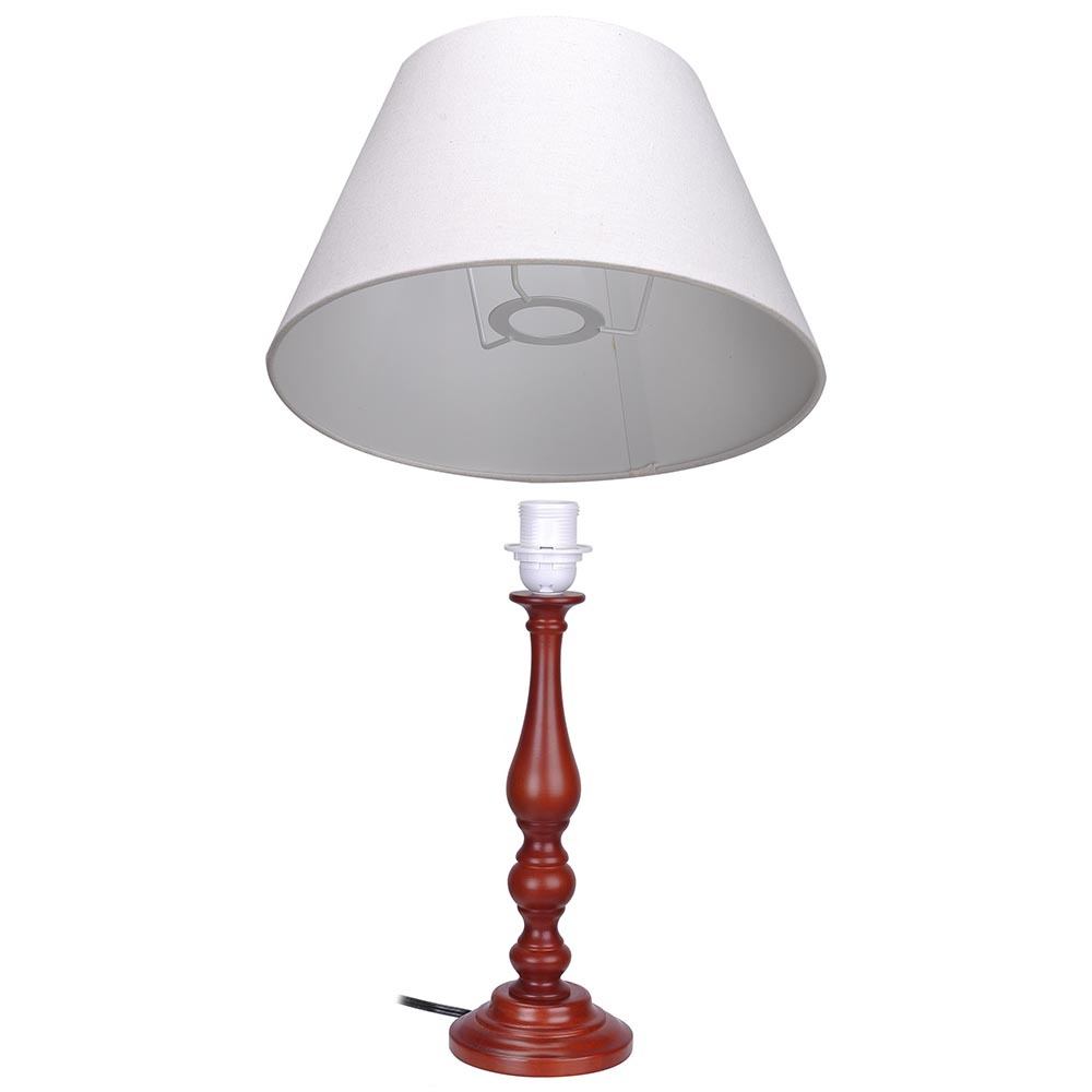 197034 wooden table lamp cotton fabric shade lighting 75ft wire 197 wooden table lamp cotton fabric shade lighting 75ft wire cafe home hall keyboard keysfo Image collections