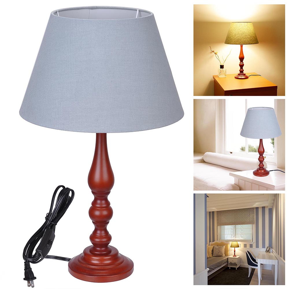 197 wooden table lamp cotton fabric shade lighting 75ft wire cafe 197 wooden table lamp cotton fabric shade lighting 75ft wire cafe dine room keyboard keysfo Image collections
