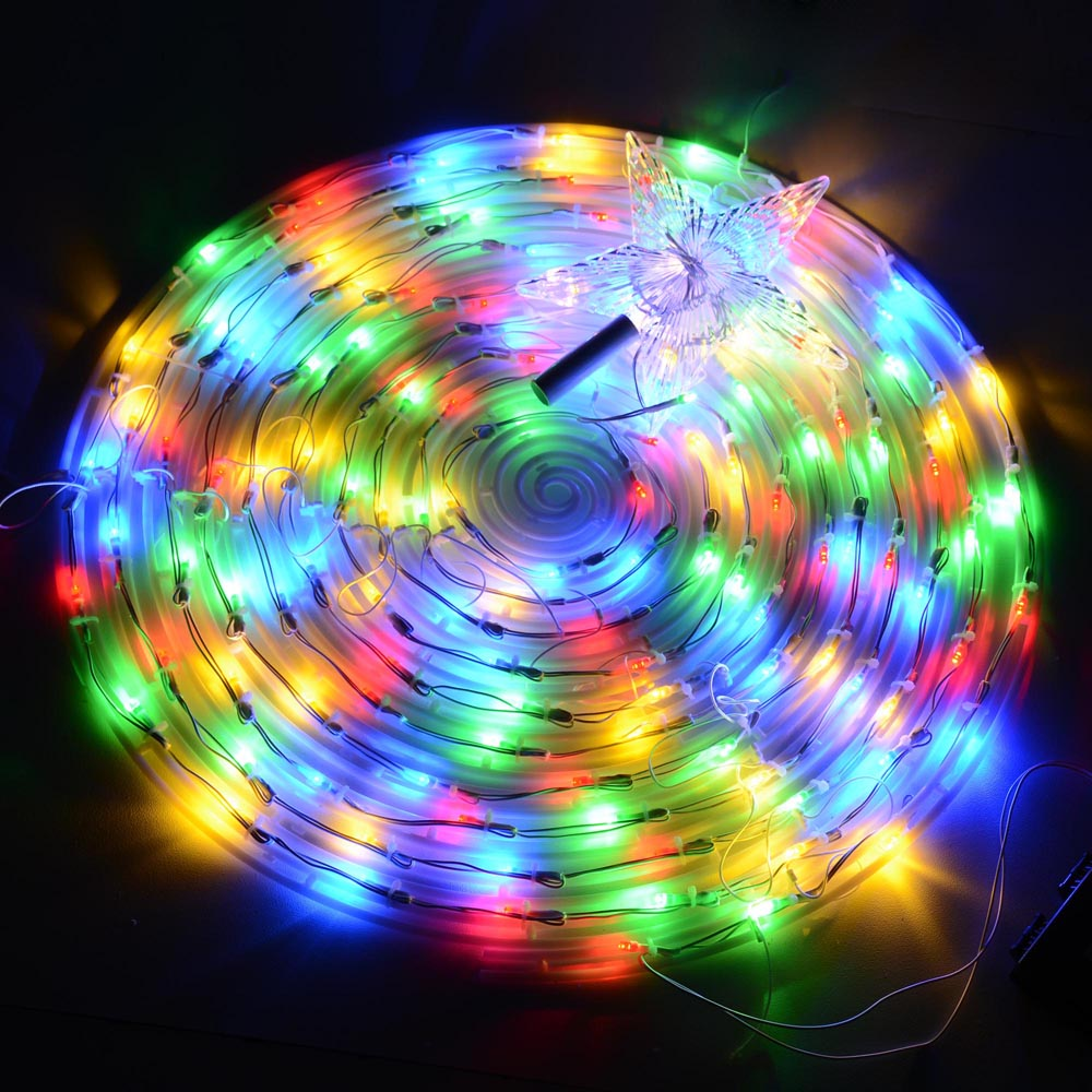 6 39 color changing led spiral tree lights outdoor indoor holiday christmas d cor ebay. Black Bedroom Furniture Sets. Home Design Ideas