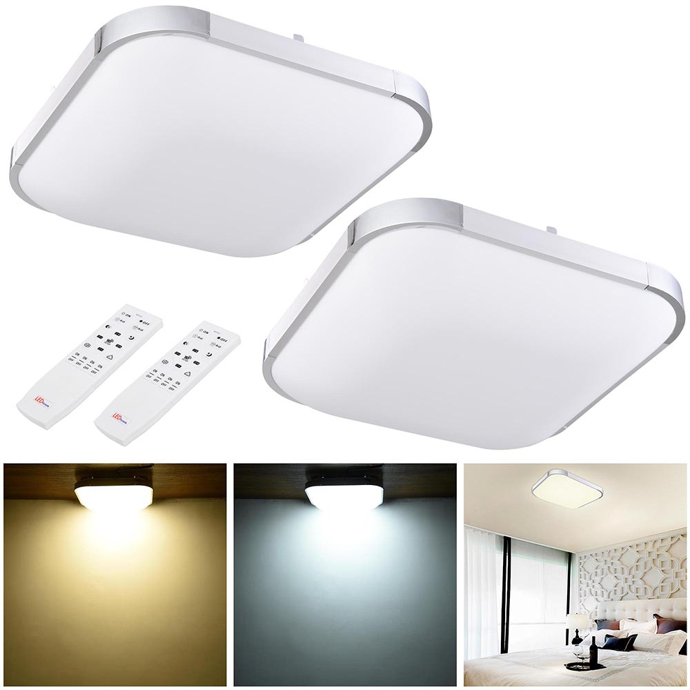24 X 24 Led Light Fixture: 24W 36W 48W Modern Flush Mount LED Ceiling Light Pendant