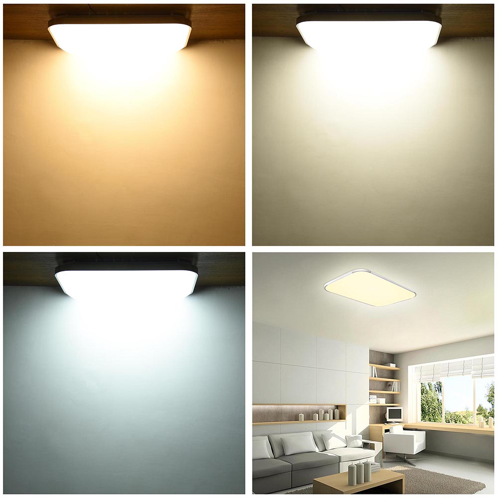 Led ceiling light flush mount fixture lamp bedroom kitchen for Flush mount bedroom lighting