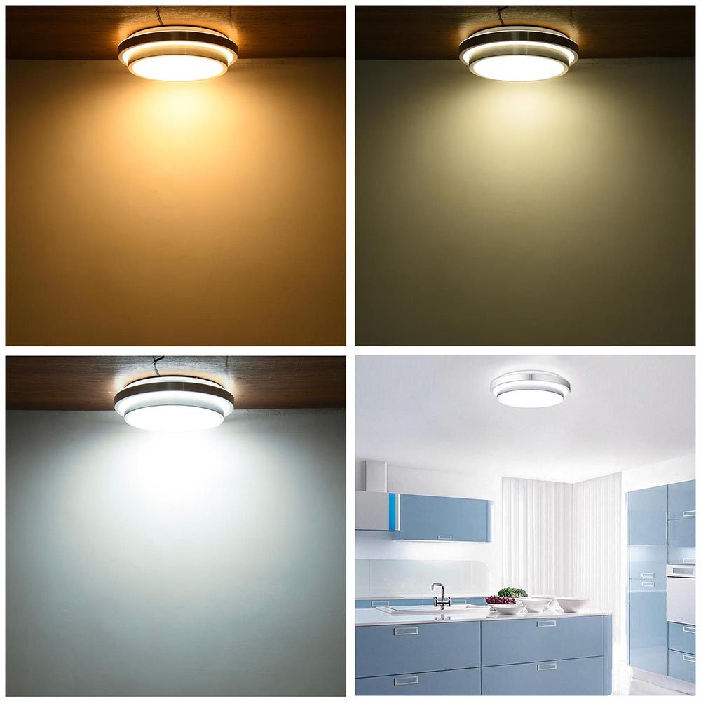 24w Led Dimmable Ceiling Light Round Flush Mounted Fixture: 24W 36W 48W Modern Flush Mount LED Ceiling Light Pendant