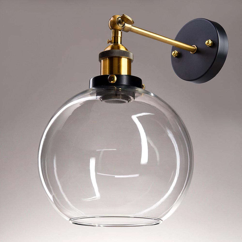Vintage Industrial Wall Mounted Glass Light Wall Sconce
