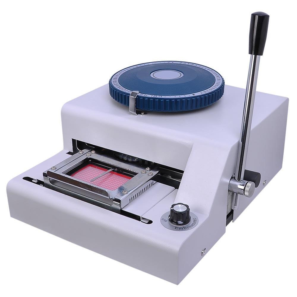 70 manual pvc card embosser credit id embossing machine vevor.