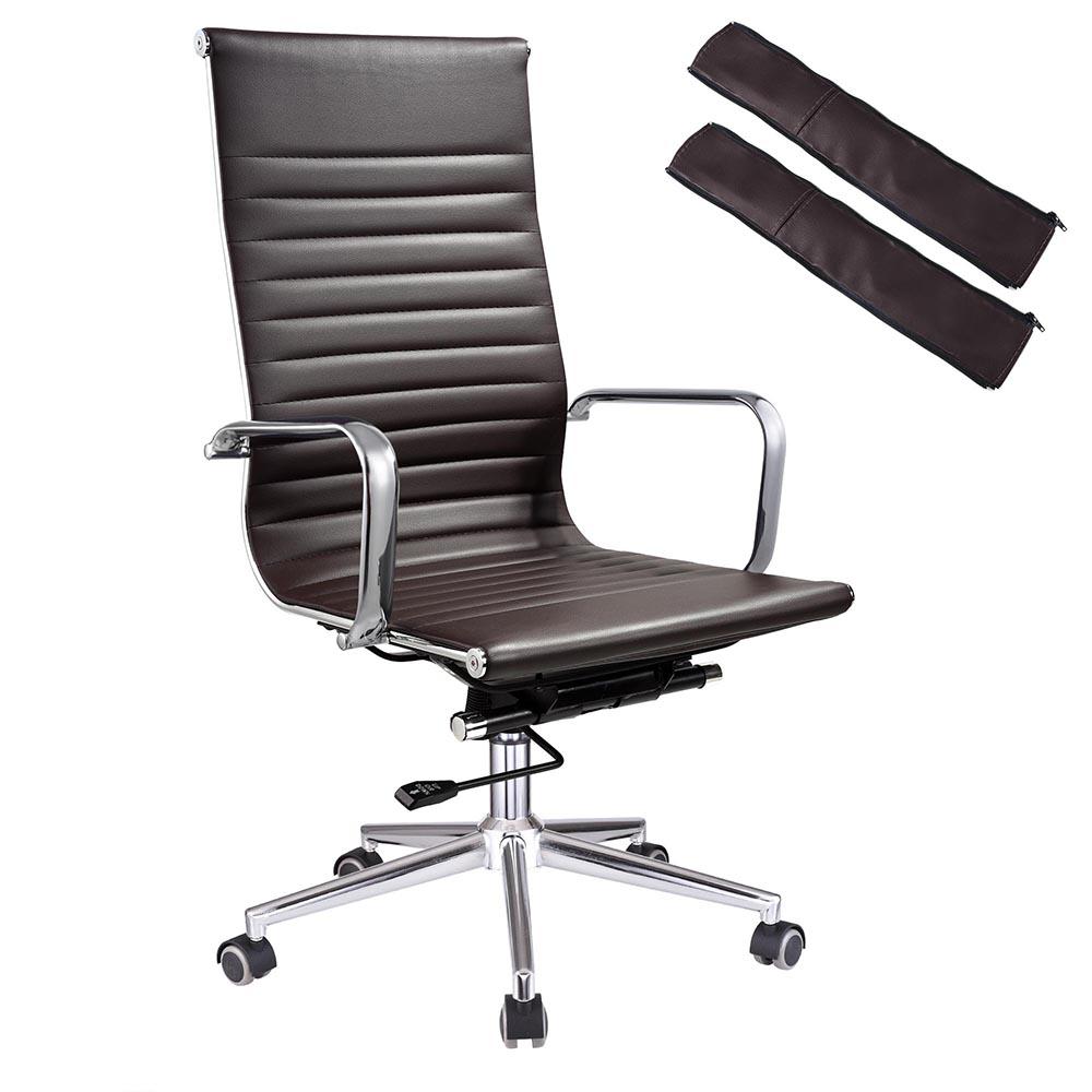 ergonomic high back pu leather office chair computer desk. Black Bedroom Furniture Sets. Home Design Ideas