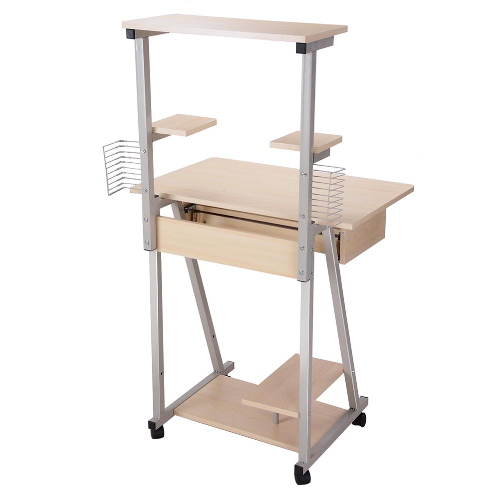 Mobile computer desk tower printer shelf laptop rolling for Mobile furniture