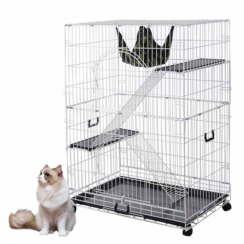 51   large chinchilla cat pet playpen wire cage 2 door hammock home crate new 51   large chinchilla cat pet playpen wire cage 2 door hammock home      rh   ebay