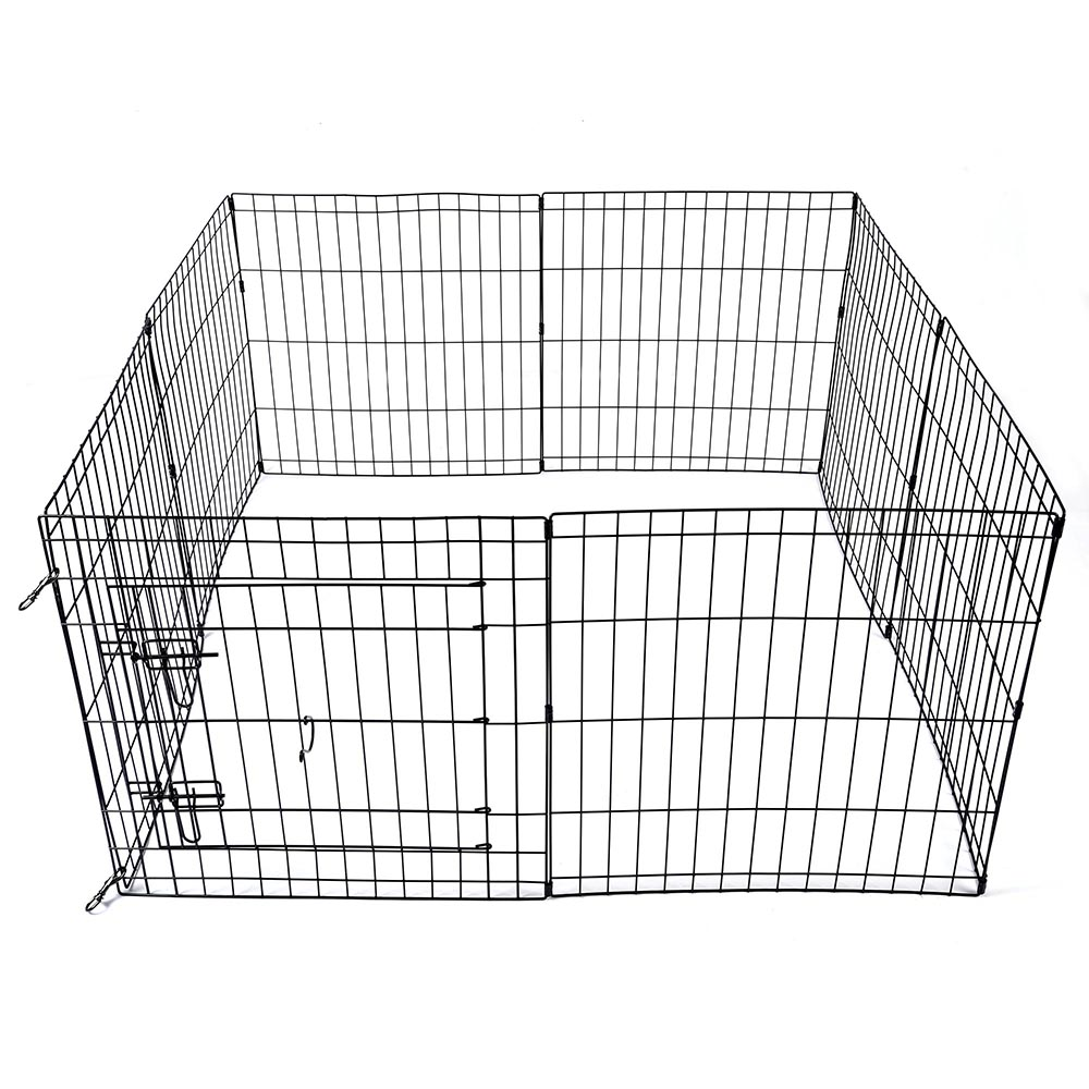 24-30-36-42-48-Dog-Pet-Playpen-Metal-Crate-Fence-Cage-8-Panel-Exercise-Play-Pen thumbnail 5