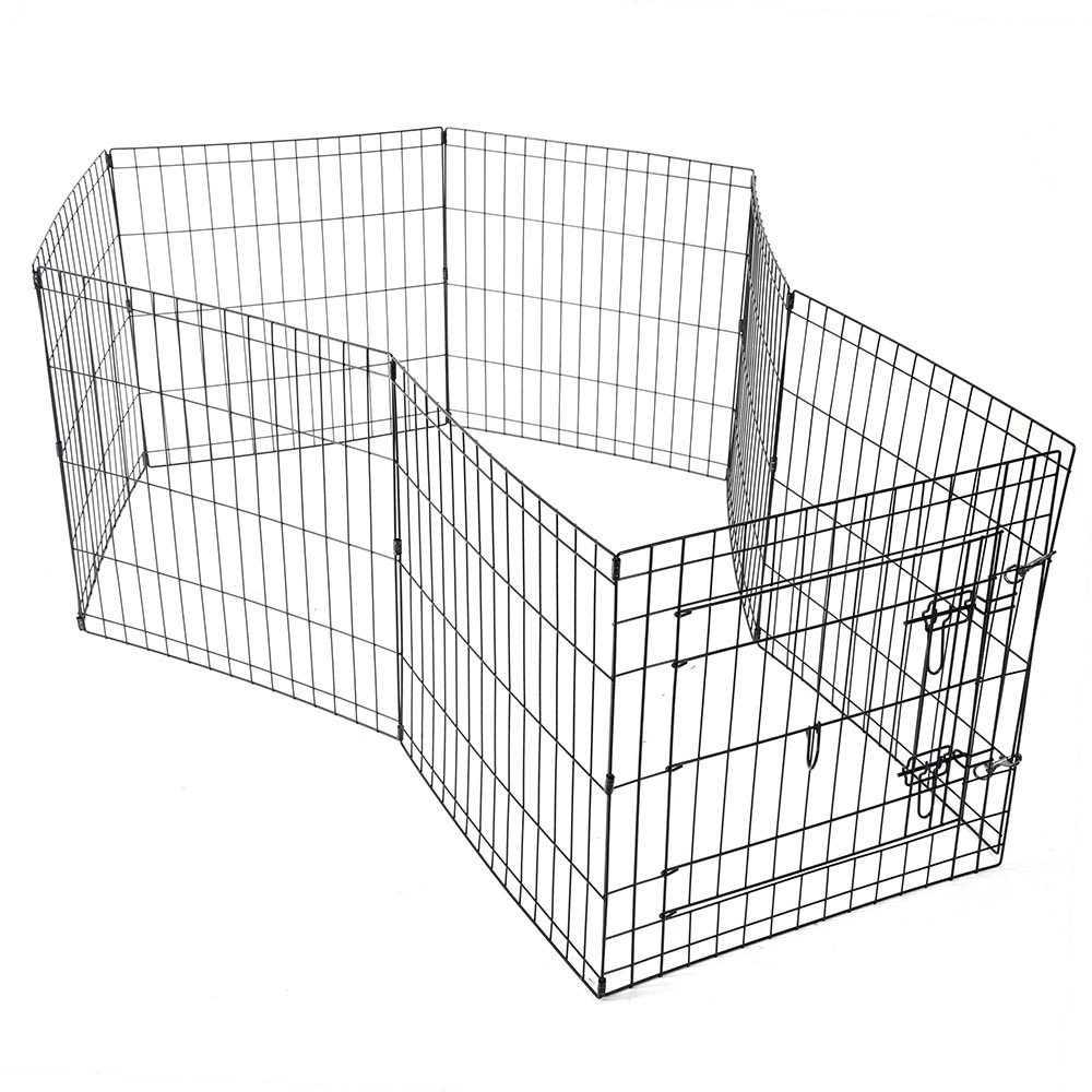 24-30-36-42-48-Dog-Pet-Playpen-Metal-Crate-Fence-Cage-8-Panel-Exercise-Play-Pen thumbnail 6