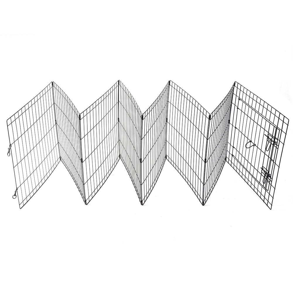 24-30-36-42-48-Dog-Pet-Playpen-Metal-Crate-Fence-Cage-8-Panel-Exercise-Play-Pen thumbnail 7