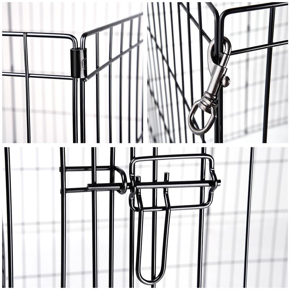 24-30-36-42-48-Dog-Pet-Playpen-Metal-Crate-Fence-Cage-8-Panel-Exercise-Play-Pen thumbnail 9