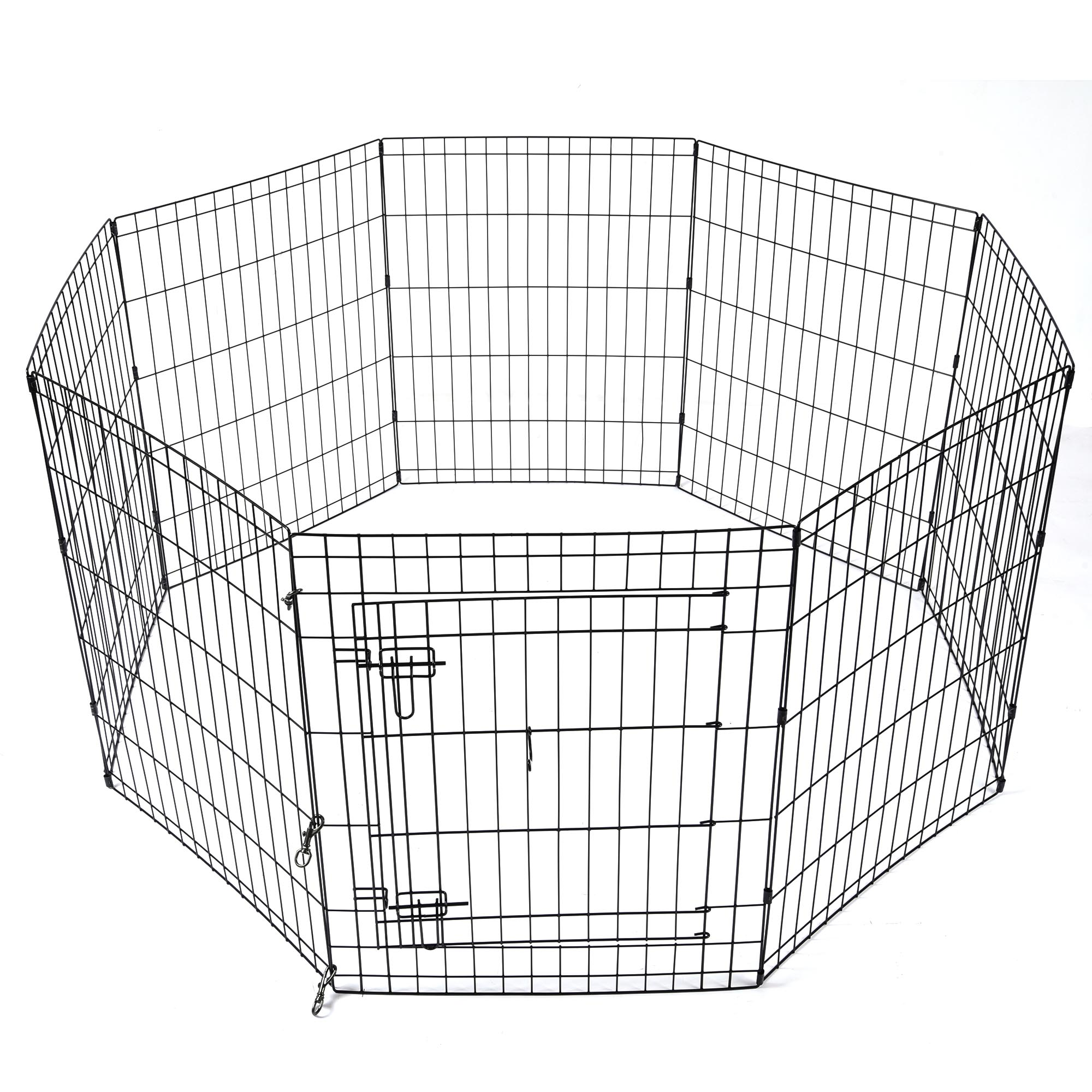 24-30-36-42-48-Dog-Pet-Playpen-Metal-Crate-Fence-Cage-8-Panel-Exercise-Play-Pen thumbnail 12
