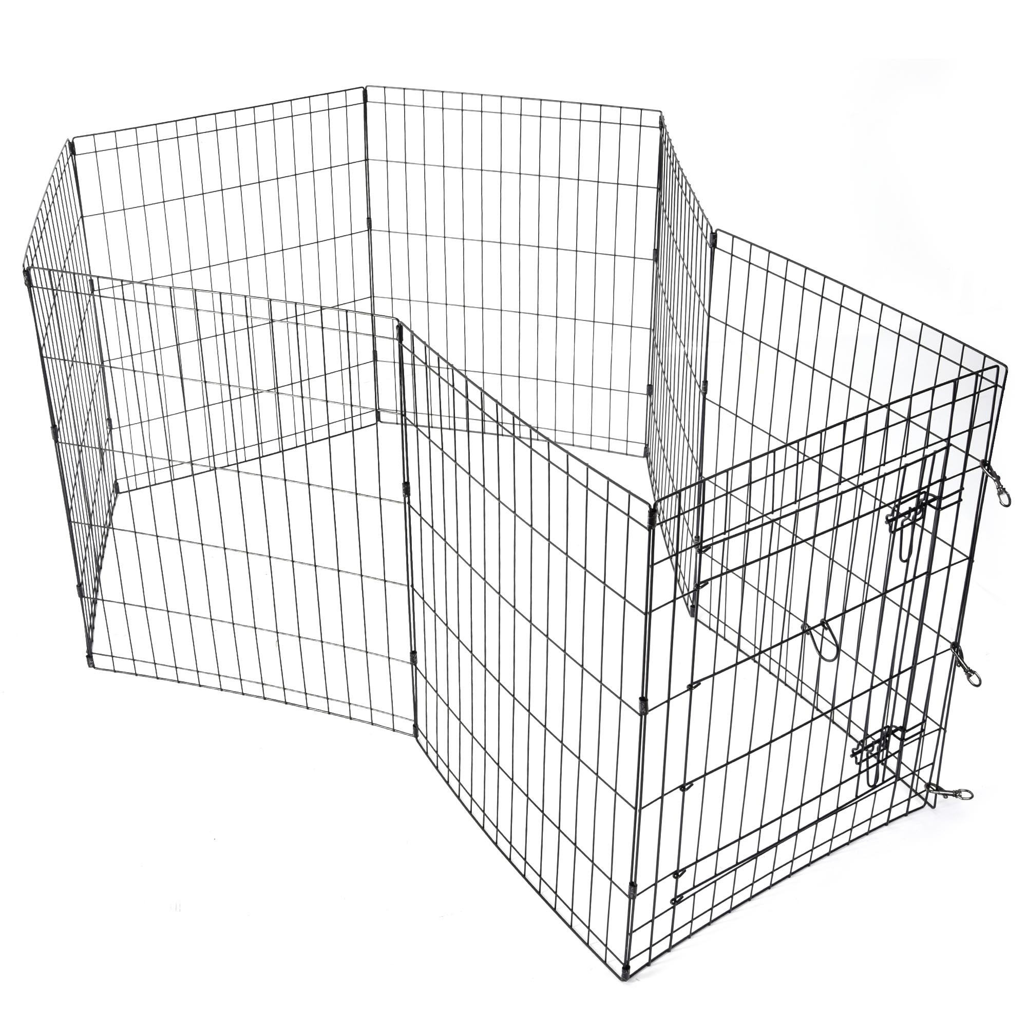 24-30-36-42-48-Dog-Pet-Playpen-Metal-Crate-Fence-Cage-8-Panel-Exercise-Play-Pen thumbnail 15