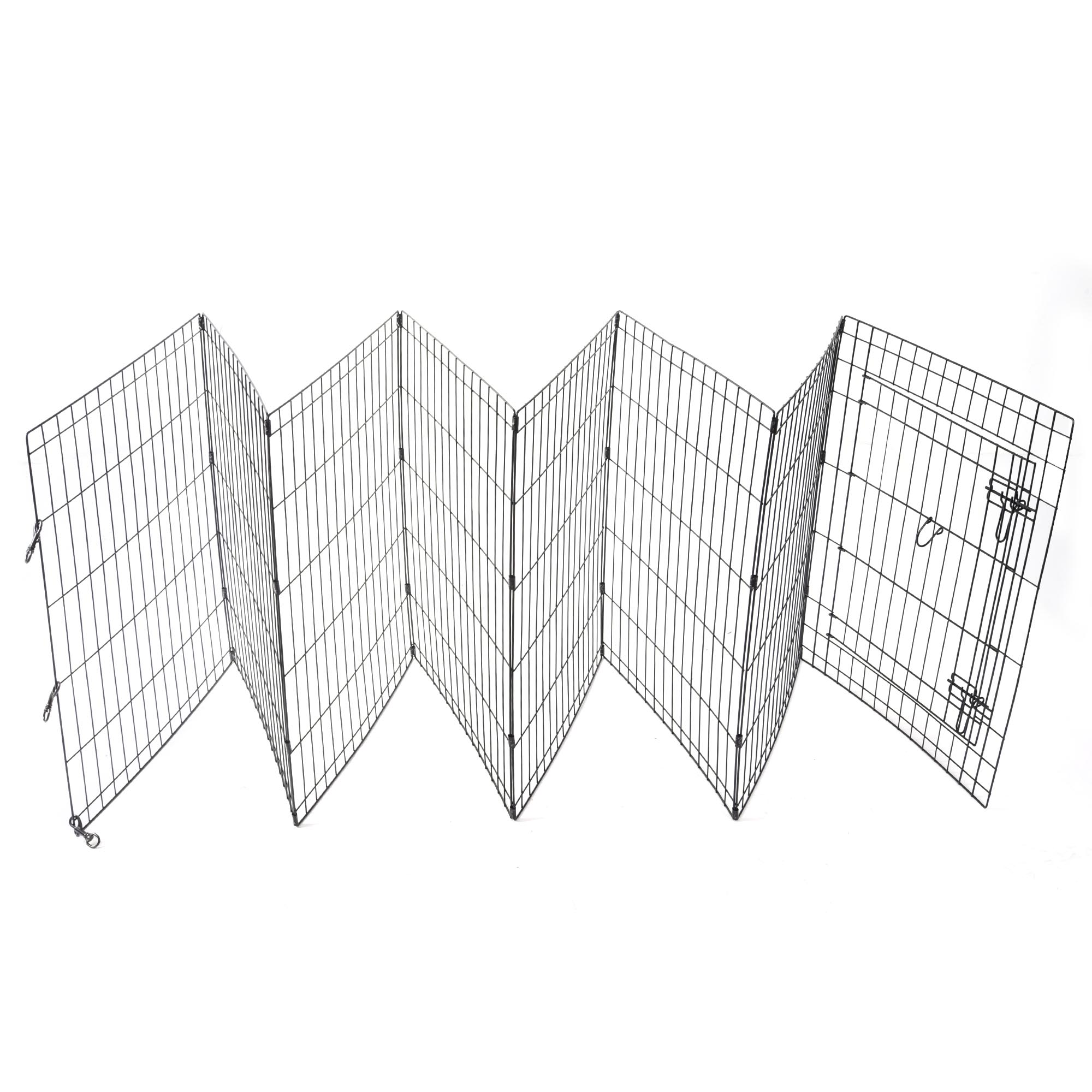 24-30-36-42-48-Dog-Pet-Playpen-Metal-Crate-Fence-Cage-8-Panel-Exercise-Play-Pen thumbnail 16