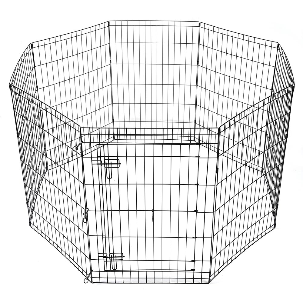 24-30-36-42-48-Dog-Pet-Playpen-Metal-Crate-Fence-Cage-8-Panel-Exercise-Play-Pen thumbnail 21