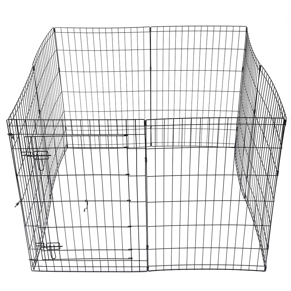 24-30-36-42-48-Dog-Pet-Playpen-Metal-Crate-Fence-Cage-8-Panel-Exercise-Play-Pen thumbnail 23