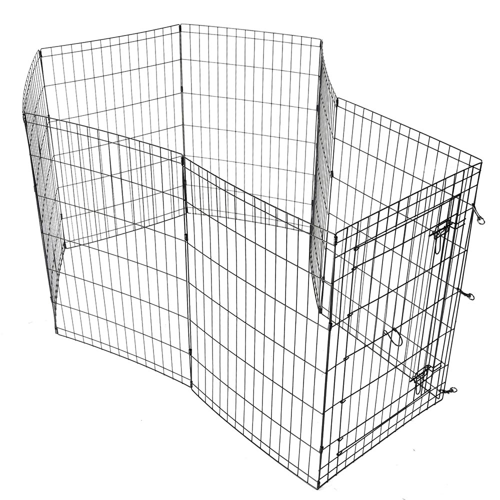 24-30-36-42-48-Dog-Pet-Playpen-Metal-Crate-Fence-Cage-8-Panel-Exercise-Play-Pen thumbnail 24