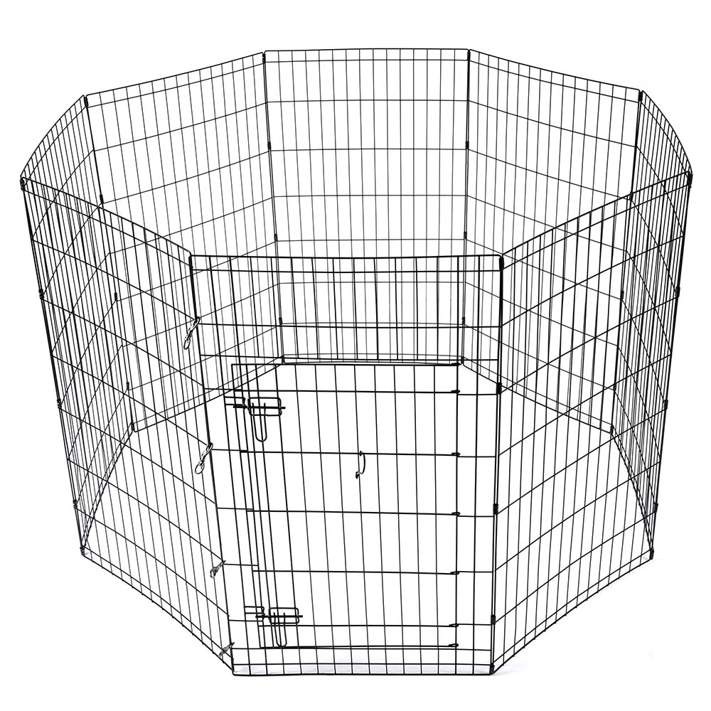 24-30-36-42-48-Dog-Pet-Playpen-Metal-Crate-Fence-Cage-8-Panel-Exercise-Play-Pen thumbnail 30