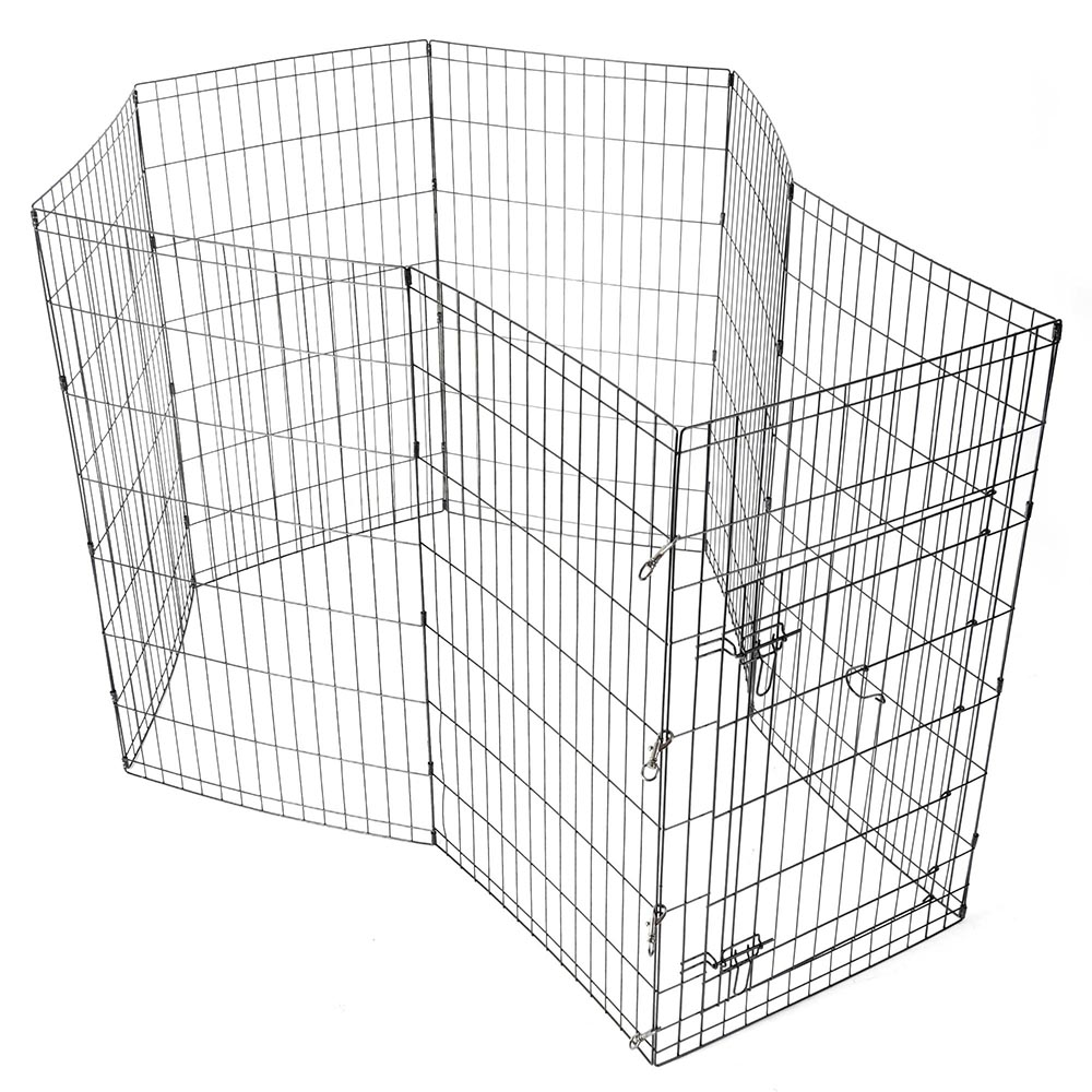 24-30-36-42-48-Dog-Pet-Playpen-Metal-Crate-Fence-Cage-8-Panel-Exercise-Play-Pen thumbnail 33