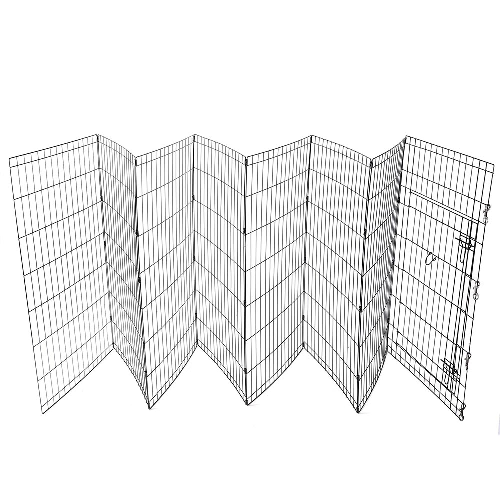 24-30-36-42-48-Dog-Pet-Playpen-Metal-Crate-Fence-Cage-8-Panel-Exercise-Play-Pen thumbnail 34