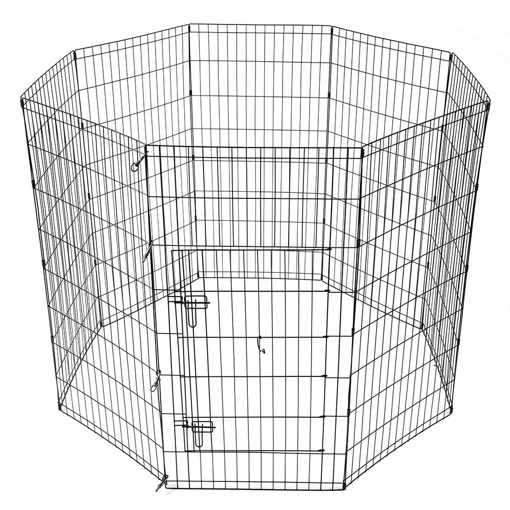 24-30-36-42-48-Dog-Pet-Playpen-Metal-Crate-Fence-Cage-8-Panel-Exercise-Play-Pen thumbnail 39