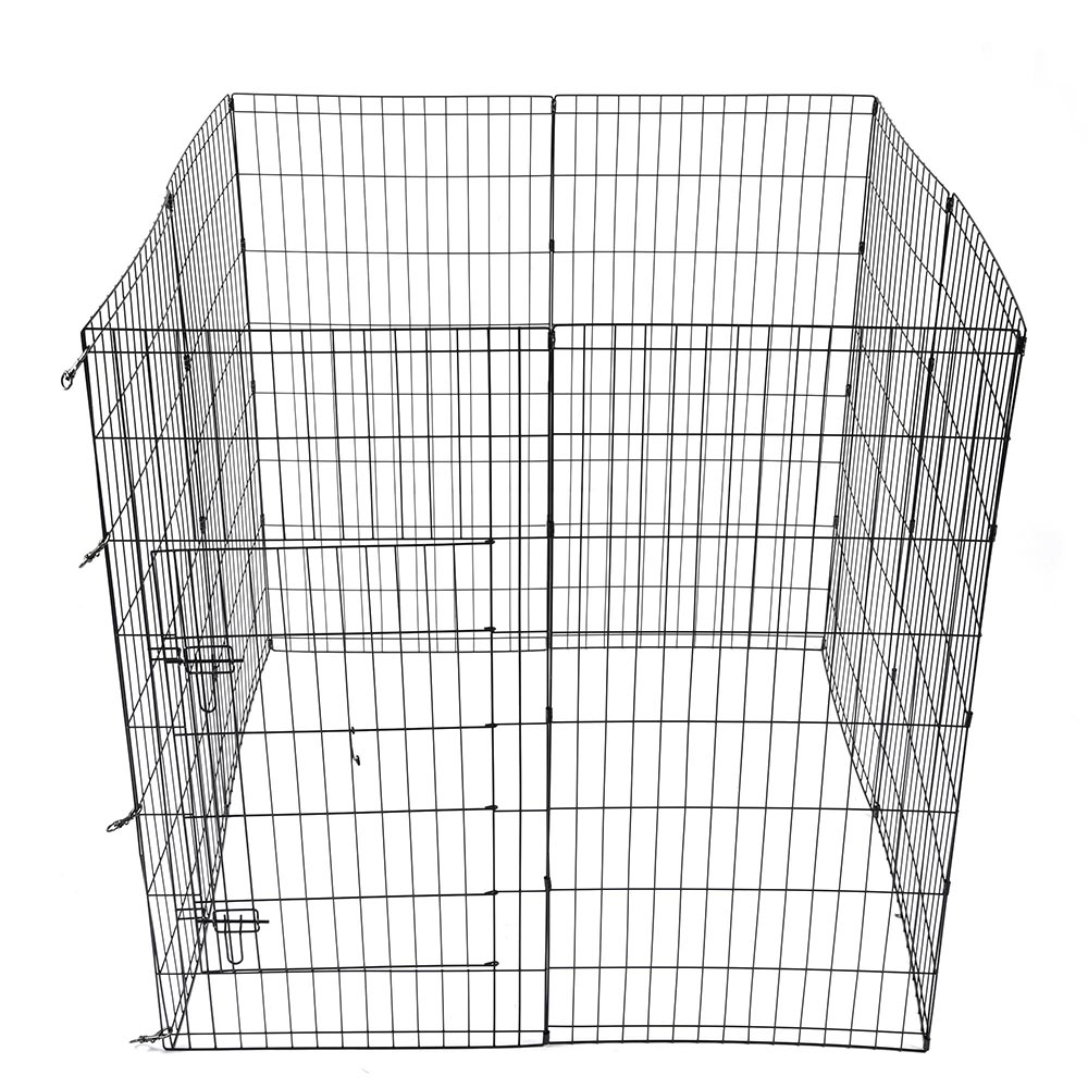 24-30-36-42-48-Dog-Pet-Playpen-Metal-Crate-Fence-Cage-8-Panel-Exercise-Play-Pen thumbnail 41