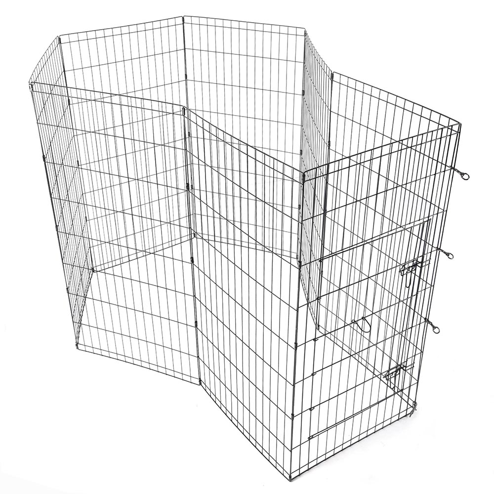 24-30-36-42-48-Dog-Pet-Playpen-Metal-Crate-Fence-Cage-8-Panel-Exercise-Play-Pen thumbnail 42