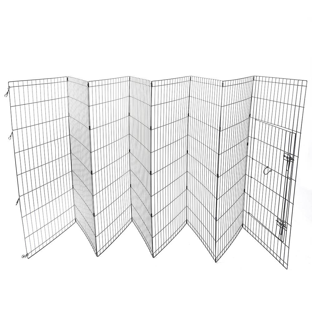 24-30-36-42-48-Dog-Pet-Playpen-Metal-Crate-Fence-Cage-8-Panel-Exercise-Play-Pen thumbnail 43