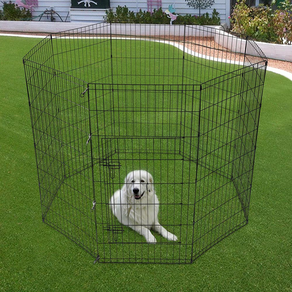 24-30-36-42-48-Dog-Pet-Playpen-Metal-Crate-Fence-Cage-8-Panel-Exercise-Play-Pen thumbnail 46