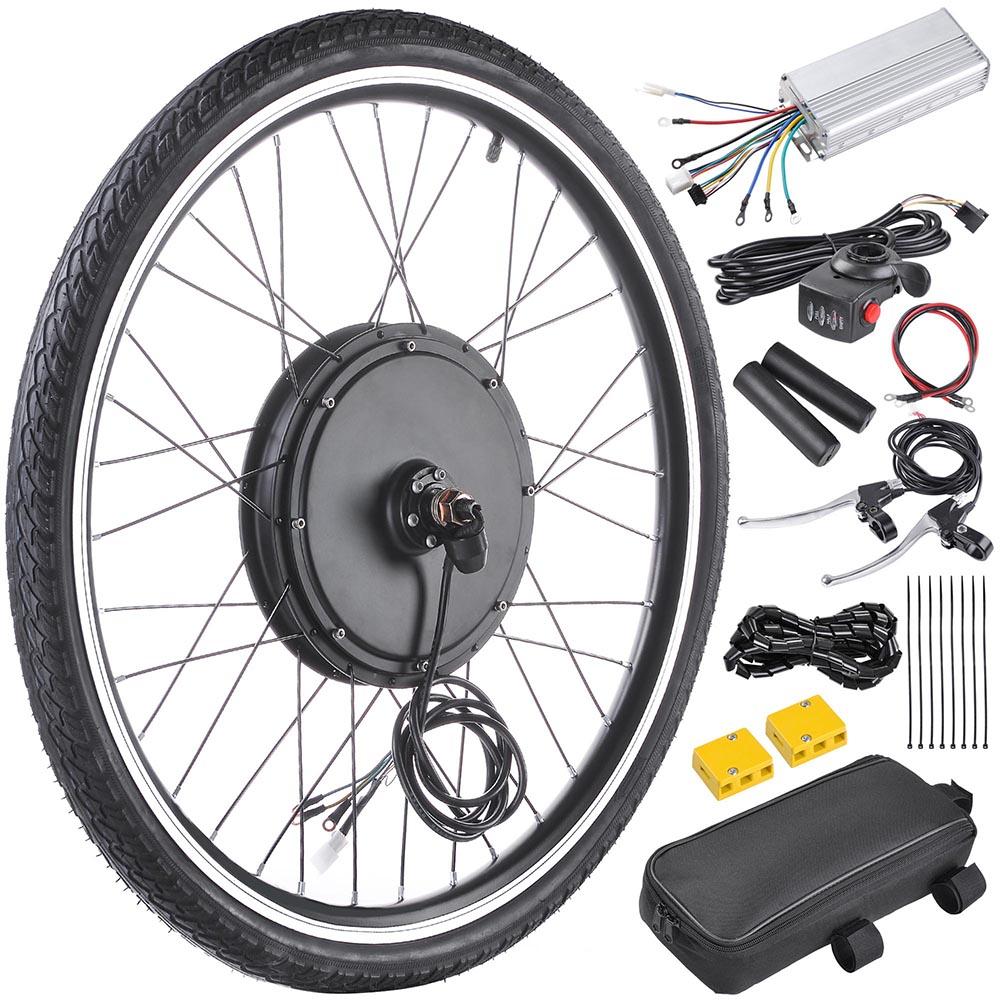 48v 1000w26 front wheel electric bicycle motor kit ebike. Black Bedroom Furniture Sets. Home Design Ideas