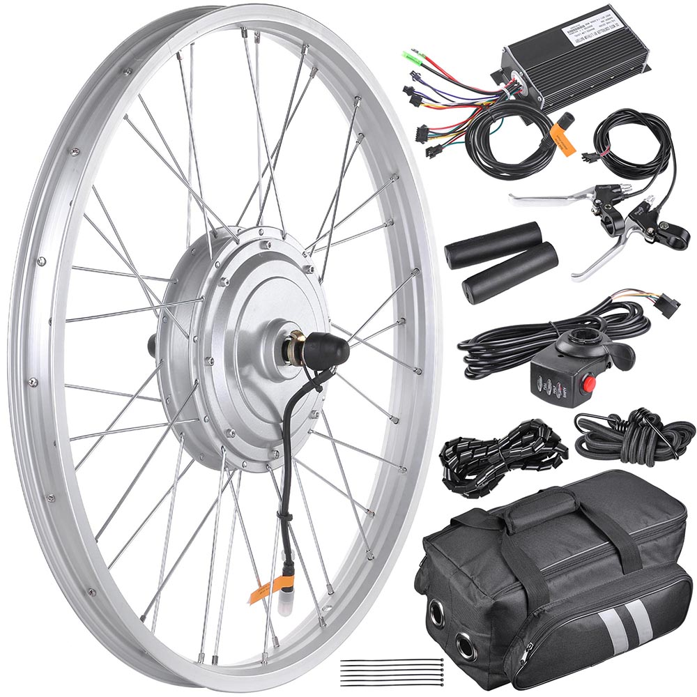 20 24 26 front wheel electric bicycle motor conversion for Fat bike front hub motor