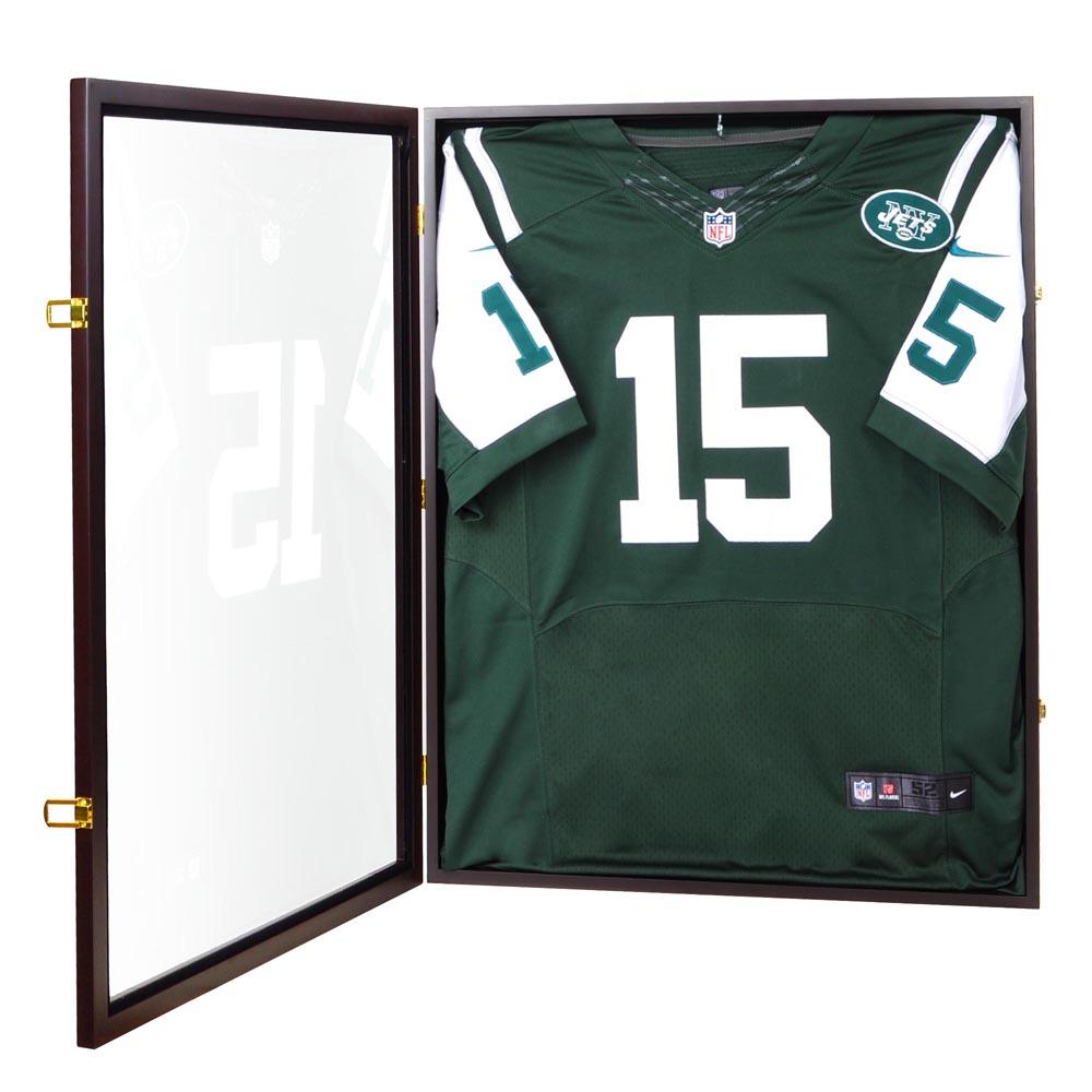 b72d0d7d6 Details about Jersey Display Case Wall Frame Shadow Box Football Baseball  Basketball Cabinet