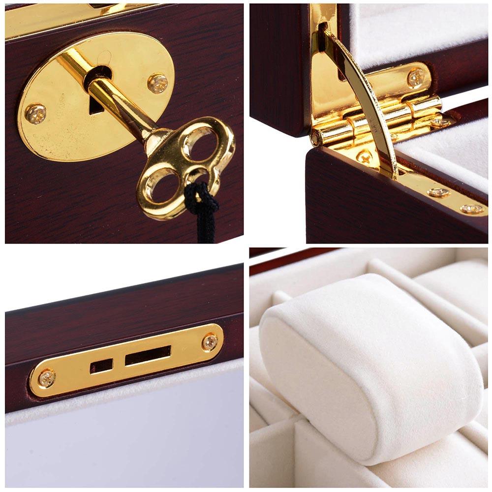 6-10-12-20-24-Watch-Display-Case-Wooden-Glass-Top-Jewelry-Storage-Organizer-Box