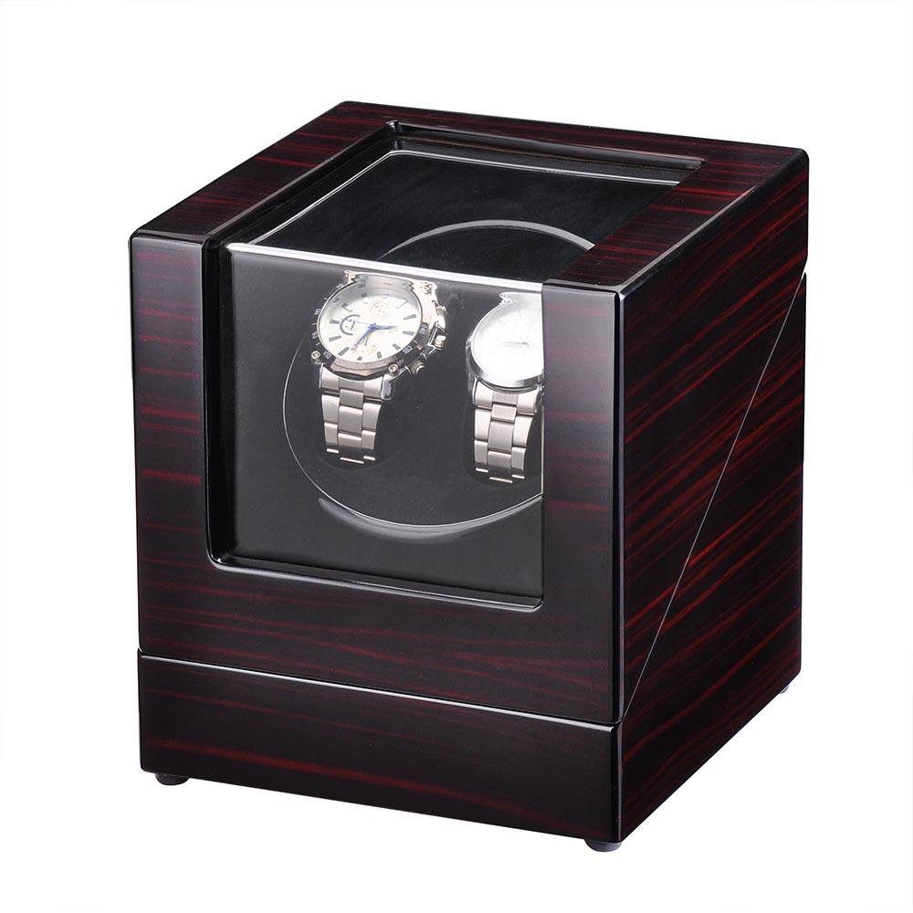 Automatic Single / Dual Watch Winder Wood Display Box Case