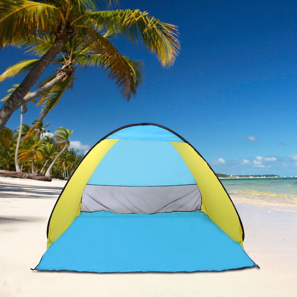 640671047418 & Popup Portable Beach Tent Canopy Sun Shade Shelter Outdoor Camping ...