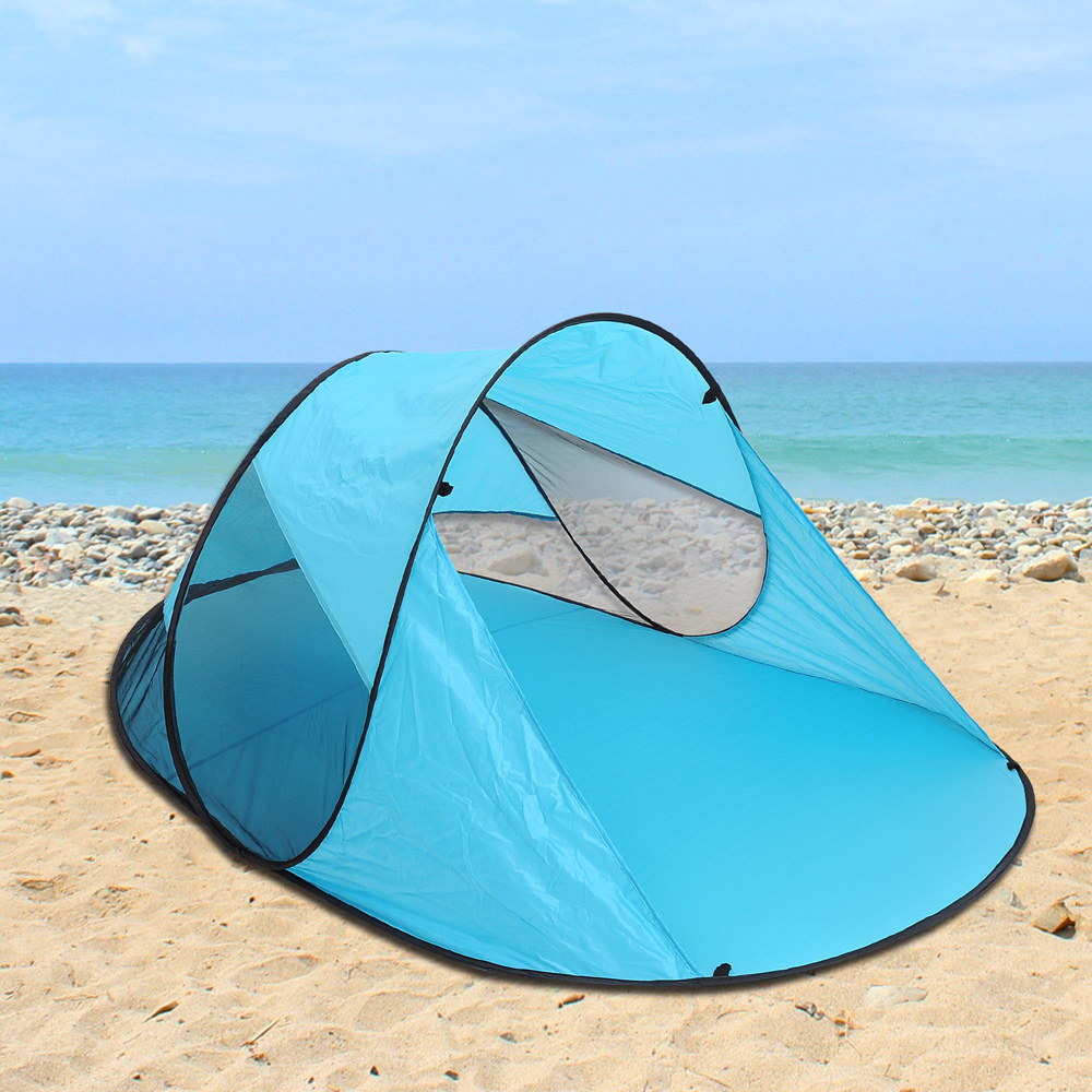 Popup-Portable-Beach-Tent-Canopy-Sun-Shade-Shelter- & Popup Portable Beach Tent Canopy Sun Shade Shelter Outdoor Camping ...