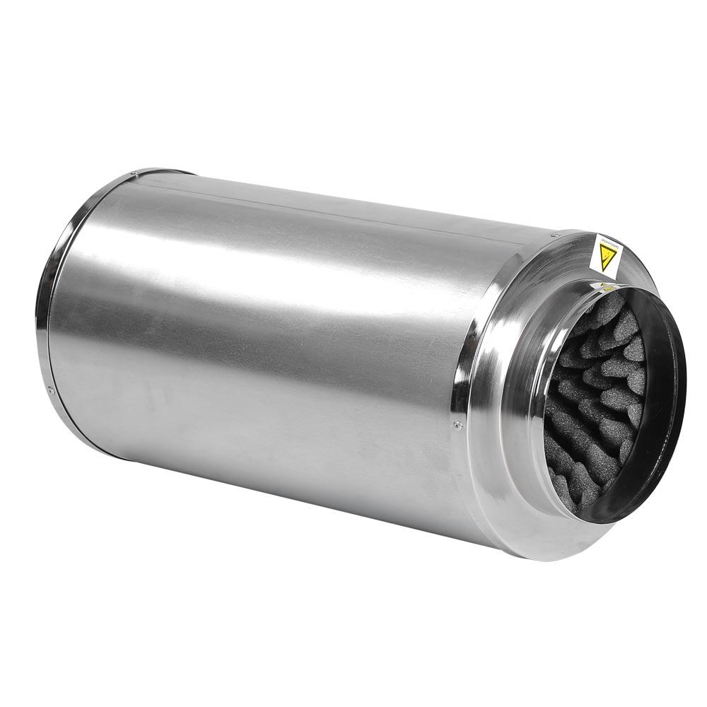 "8"" Inch Inline Muffler Noise Reducer Silencer Duct Blower"