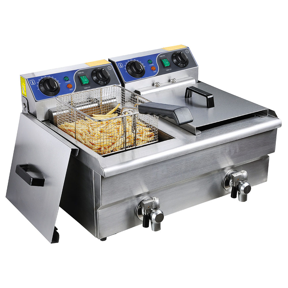 23 4l Commercial Deep Fryer W Timer Drain Fast Food