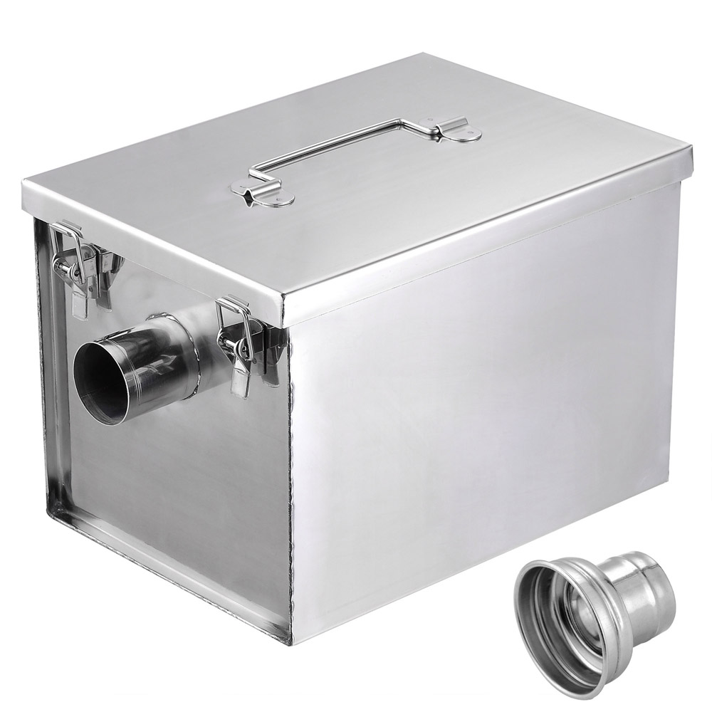 Uncategorized Kitchen Grease Trap Design 8lb commercial 5gpm gallons per minute grease trap stainless steel 637509407094