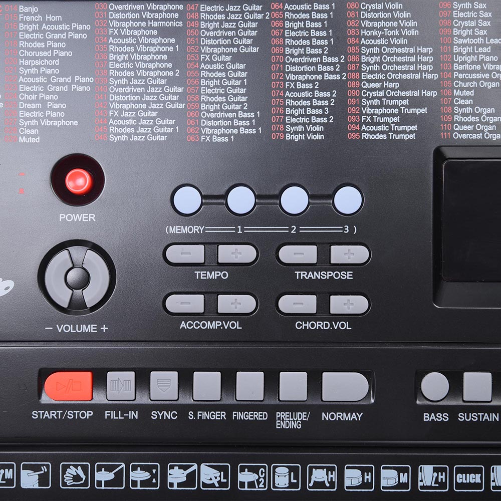 61-Key-Electric-Keyboard-Digital-Piano-Instrument-Kids-Talent-Practise-Xmas-Gift thumbnail 5